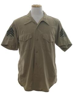 1970's Mens Military Shirt