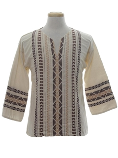 1970's Unisex Hippie Tunic Shirt