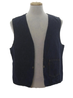1960's Mens Reversible Denim Vest