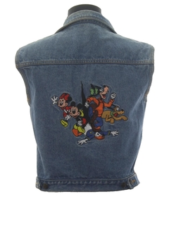 1980's Womens Totally 80s Denim Disney Vest