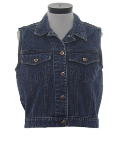 1980's Womens Totally 80s Denim Vest