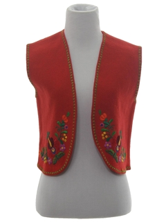 1980's Womens Wool Hippie Vest
