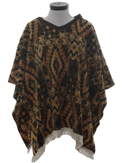 1990's Womens Hippie Poncho Jacket
