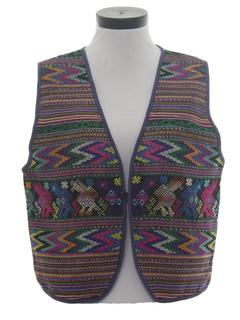 1980's Womens Guatemalan Style Hippie Vest