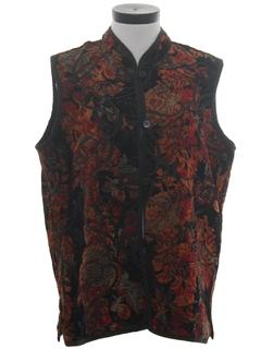 1990's Womens Reversible Hippie Style Vest