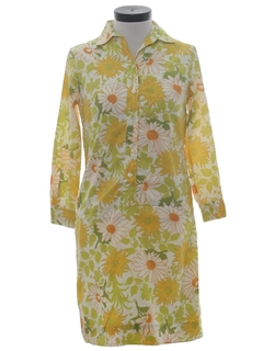 1960's Womens Mod Shirt Dress