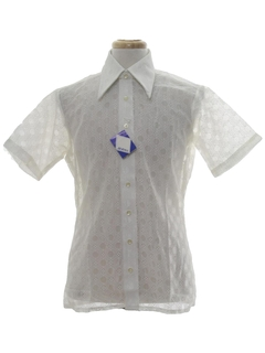 1970's Mens Solid Lace Disco Shirt*