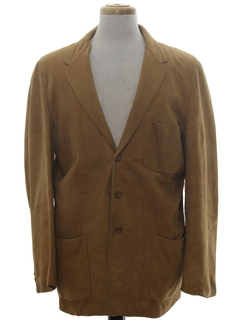 1950's Mens Leather Blazer Sport Coat Jacket
