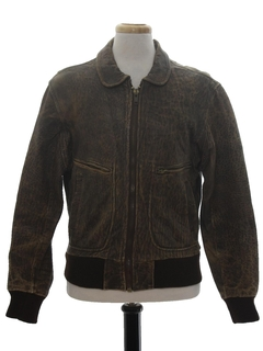 1980's Mens Leather Flight Jacket