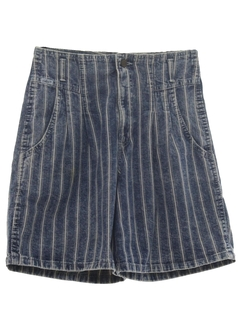 1980's Womens Totally 80s Acid Washed Denim Shorts