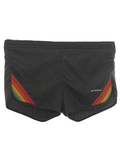1980's Mens Rainbow Swim Shorts