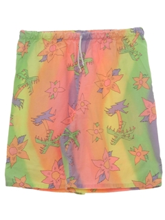 1980's Womens Totally 80 Print Shorts