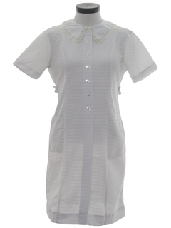 1960's Womens Knit Nurse Style Dress