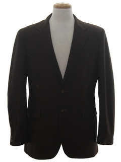 1970's Mens Western Style Disco Sport Coat Blazer Jacket