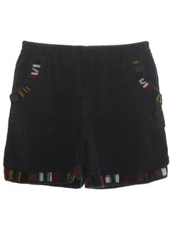 1980's Unisex Guatemalan Style Hippie Shorts