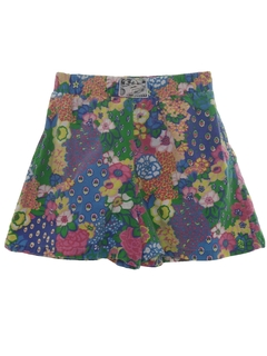 1980's Womens Totally 80s Print Baggy Shorts