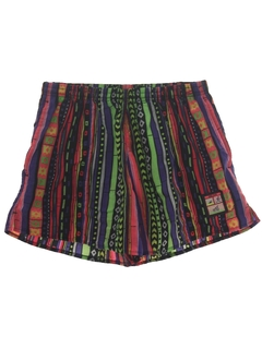 1980's Mens Mens Totally 80s Swim Shorts