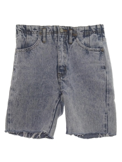 1980's Womens Womens Totally 80s Acid Washed Denim Shorts