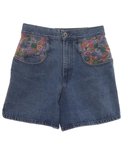 1980's Womens Womens Totally 80s Denim Shorts