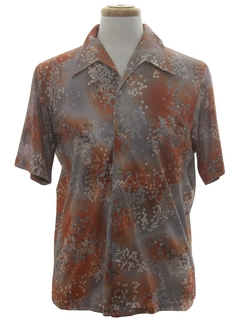 1970's Mens Print Disco Resort Wear Style Shirt