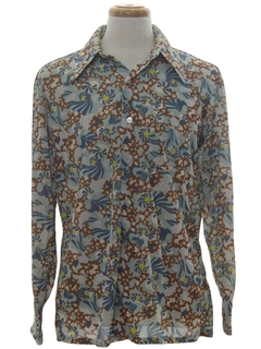 1970's Mens Hippie Style Print Disco Shirt