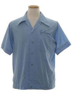 1970's Mens Mod Bowling Shirt
