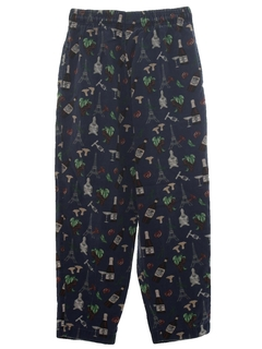 1990's Unisex Baggy Print Chef Pants