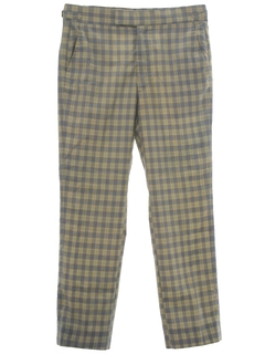 1960's Mens Mod Golf Pants