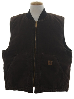 1980's Mens Denim Work Vest