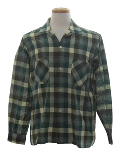 1960's Mens Mod Board Style Sport Shirt