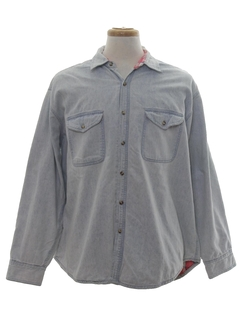 1990's Mens Wicked 90s Grunge Denim Shirt
