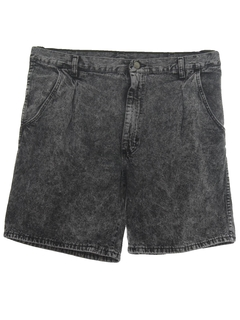 1980's Mens Totally 80s Acid Wash Denim Shorts