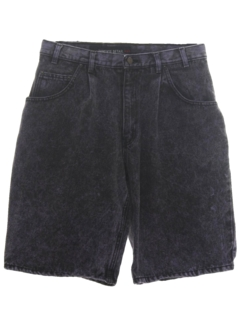 1980's Mens Totally 80s Overdyed Acid Washed Denim Shorts