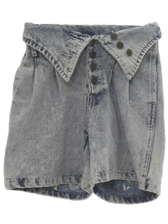 1990's Womens Wicked 90s Denim Acid Wash Shorts