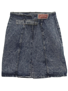 1990's Womens Wicked 90s Acid Washed Denim Skirt