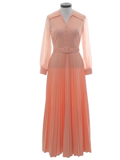 1970's Womens Maxi Disco Knit Dress