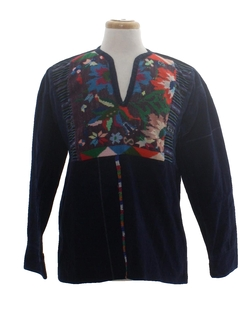 1980's Unisex Denim Hippie Shirt