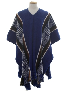 1980's Unisex Hippie Poncho Sweater
