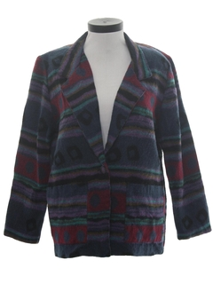 1980's Womens Totally 80s Blazer Coat  Jacket