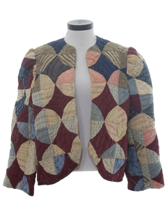 1980's Womens Quilted Coat Jacket