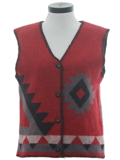 1980's Womens Southwestern Hippie Vest