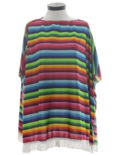 1970's Womens Hippie Poncho Jacket