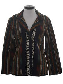 1980's Womens Hippie Style Blazer Coat Jacket