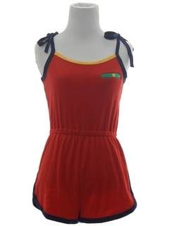 1980's Womens Terry Cloth Short Jumpsuit