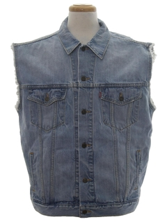 1990's Mens Wicked 90s Grunge Denim Vest