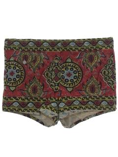 1960's Mens Mens Mod Shorts
