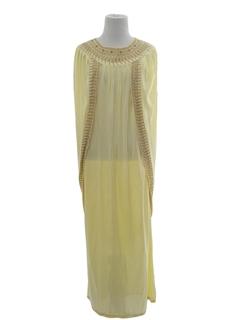 1970's Womens Hippie Caftan Dress