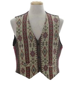 1980's Mens Hippie Vest