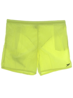 1980's Mens Totally 80s Neon Shorts