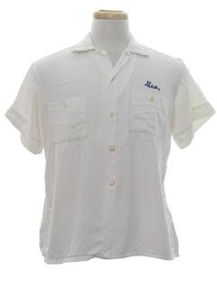 1950's Mens Gabardine Bowling Shirt